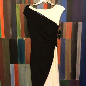 Lauren Ralph Lauren Black/White Dress Size 4 NWT